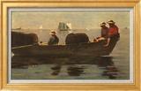 Three Boys in a Dory Art texturé encadré par Winslow Homer