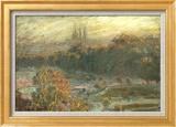 The Tuileries Art texturé encadré par Claude Monet