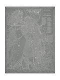 City Map of Boston Reproduction d'art par Vision Studio