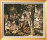Bathers at the Seine Art texturé encadré par Georges Seurat
