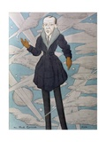 Caricature of Noel Coward