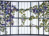 Tiffany Studios 'Clematis' Leaded Glass Three-Sectioned Skylight