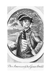 Eighteenth Century Etching of a Portrait of Benedict Arnold