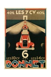 Advertisement for Donnet  French Automotive Pioneer