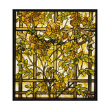 Tiffany Studios Trumpet Vine Leaded Glass Window