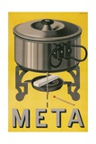 German Advertisement for Meta  Pot with Sterno Cube