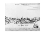 "Eighteenth Century Etching of ""Prospect Von Quebec"""