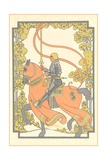 Art Nouveau Knight on Charger