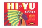 Hi Yu Apples Crate Label