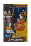 Air India Travel Poster, There Is an Air About India Giclée