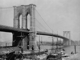 Brooklyn Bridge and Sailing Ships