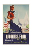 1939 New York World's Fair Poster  for Your Summer Vacation