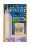 Visit the Bell System Exhibit Poster  Chicago World's Fair  1935