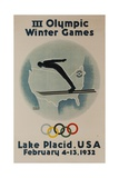 1932 Lake Placid Winter Olympics  Ski Jumper