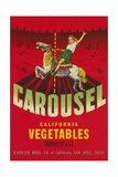 Carousel Vegetable Crate Label