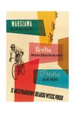 Bicycle Race, Warsaw, Berlin, Prague Giclée