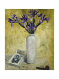 Irises in a Tall Vase