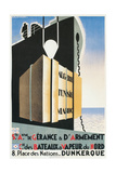 French Ad for Steamship Line Port  Dunkirk