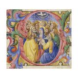 Illuminated Initial Depicting Pentecost
