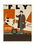 Fly Anywhere Any Time  1930 Curtiss Aircraft Advertising Poster