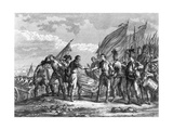 Engraving of the Battle of Saratoga  1777