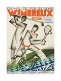 Wimereux Plage French Railroad Travel Poster Giclée