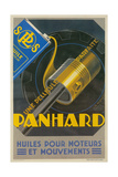 French Motor Oil Advertisement  Piston