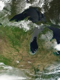 Low Earth Orbit View of the Great Lakes