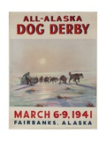 1941 All Alaska Dog Derby Poster