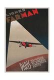 Farman Airways Poster  Vintage Plane
