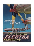 American Airlines Jet Powered Electra Flagship Travel Poster
