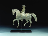 A Silhouette Horse-And -Rider Weathervane