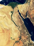 Nile River in Egypt and the Sinai Peninsula