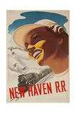 New Haven Rail Road Ski Travel Poster Snow Train