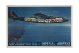 Imperial Airways Travel Poster  Ensign Air Liner Cutaway