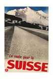 Swiss Travel Poster  Road to Alps