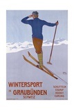 Wintersport in Graubunden Poster