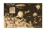 """Souvenir Postcard for """"La Fin Du Monde"""" Giclée"""