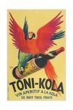 Macaws with Bottle of Toni-Kola Liqueur Giclée