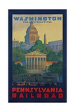 Pennsylvania Railroad Travel Poster  Washington the City Beautiful