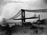 Manhattan Bridge under Construction  1909