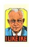 I Like Ike Political Sticker