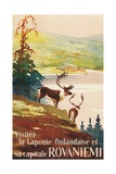 Visit Lapland and Rovaniemi, Finland, Poster in French Giclée