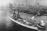 USS Texas in New York's Harbor