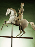 An Extremely Rare and Important Molded Copper and Zinc Worse and Rider Weathervane