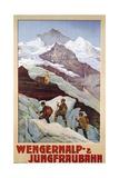 Wengernalp- and Jungfraubahn Poster