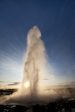 Strokkur Geyser at Sunrise