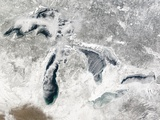 Great Lakes in North America in Winter
