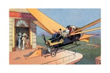 Futurist Personal Plane Taxi or Air Travel as Seen in 1912