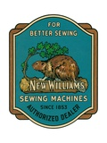 Sewing Machine Ad with Beaver